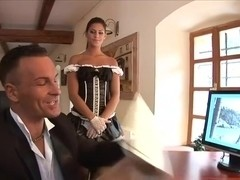 Sexy maid gets hot with her bosses