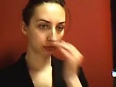 Fabulous Amateur movie with Brunette, Webcam scenes