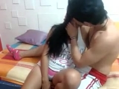 non-professional latin chick immatures fuck on web camera