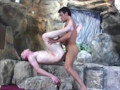 two guys fuck in the shower