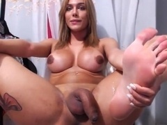 Crazy Amateur Shemale video with Chaturbate, Masturbation scenes
