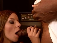 Innocent girl Debbie White is impaled in the mouth with old man cock