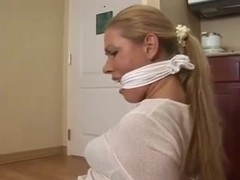 housewife cleave gagged and hogtied