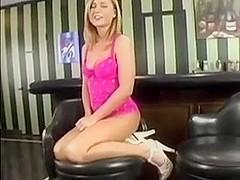 Amazing young blonde masturbates