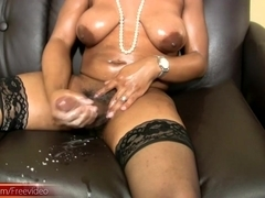 Lovely black shemale strokes ### girl pole and cum shots