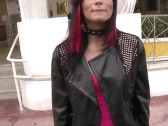 Amateur emo girl Sofia picked up by guys from Bang bus
