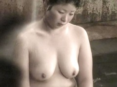 Fatty Asian milf almost sleeping in the sauna room nri064 00