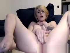 Close up with Beata fingering her pussy