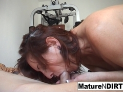 Pierced Granny Gets An Anal Workout In The Gym - MatureNDirty