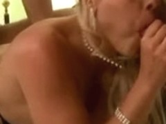 German blonde gets a great threesome fun