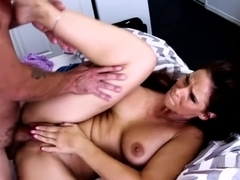 Hot stepmom fucks her son