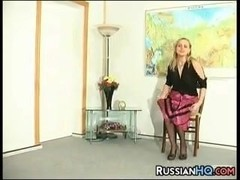 Russian Slut Fucked In The Ass