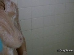Blonde Takes A Shower And Eagerly Sucks Cock