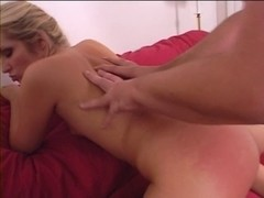 Blond's caught masturbating by a neighbour