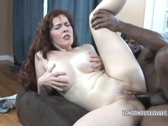 Busty housewife Mae Victoria takes some black dick