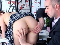 TrickyOldTeacher - Cute student needs a better mark and lets her older teacher fuck her