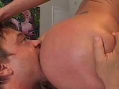 Seductive blond girl gets her pussy stuffed