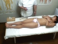 Busty Asian getting the deep vaginal massage on voyeur cam