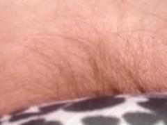 pubic hair bulging from those petite pantys.