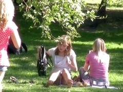 Panty up petticoat on a picnic