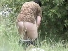 Outdoor pissing video with real amateurs out of panties