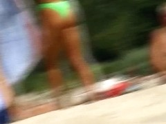 Hot naked girls on nude beach caught on candid cam