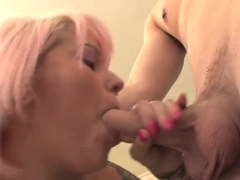 Blonde Chloe tries to be the best porn star