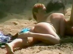 Worthwhile Oral-Job On The Beach In France Caught On Voyeur Camera