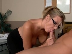 Stunning Jezebel Jones teaches her student how to fuck women