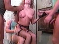 Lesbian couple and big titted mama