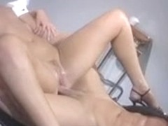Sexy golden-haired acquires wazoo and wet crack fingered in doctors office