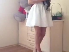 cute russian girl in skirt