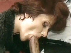 Hawt French Older Cougar in Heels Sex on Ottoman