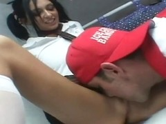 RawVidz Video: Slutty Schoolgirl Tastes Big Fat Cock