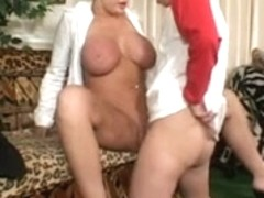 Busty horny mom gets her cunt licked and fucked hard