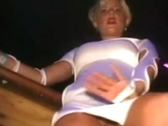 Blonde mature woman spreads her legs on hidden cam