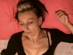 Sexy MILF masturbating her sweet cunt and moans