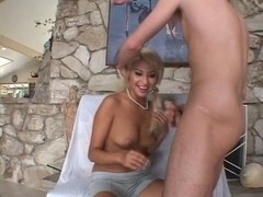 Hawt blond latin babe copulates her boyfriend for a biggest facial.