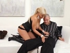 Amazing busty blonde screwed in all possible holes