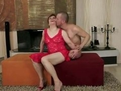Granny got her old hairy pussy creampied
