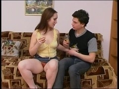 Dirty minded MILF fucks teen boy nicely