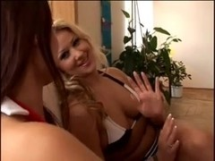 Claudia & Sandra anal threesome