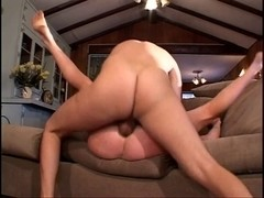 Honey Audrey Hollander gangbanged by two rods