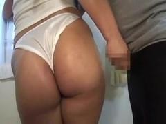 censored asian fullback panty assjob handjob cum on ass