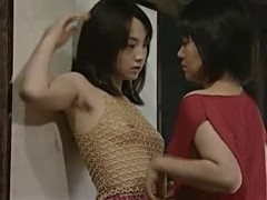 Lovely Japanese mature lesbians in kinky action