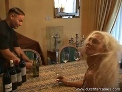 Tattooed aged Blond enjoyed different sex poses