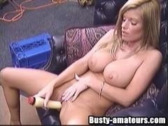 Breasty dilettante Tera jerking her cum-hole