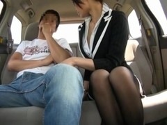 Yuri Aine Japanese office girl has sex in the car