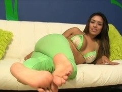 Curvy Latina shows all her wickedly hot goods