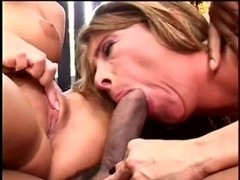Wife, group sex hubby watches